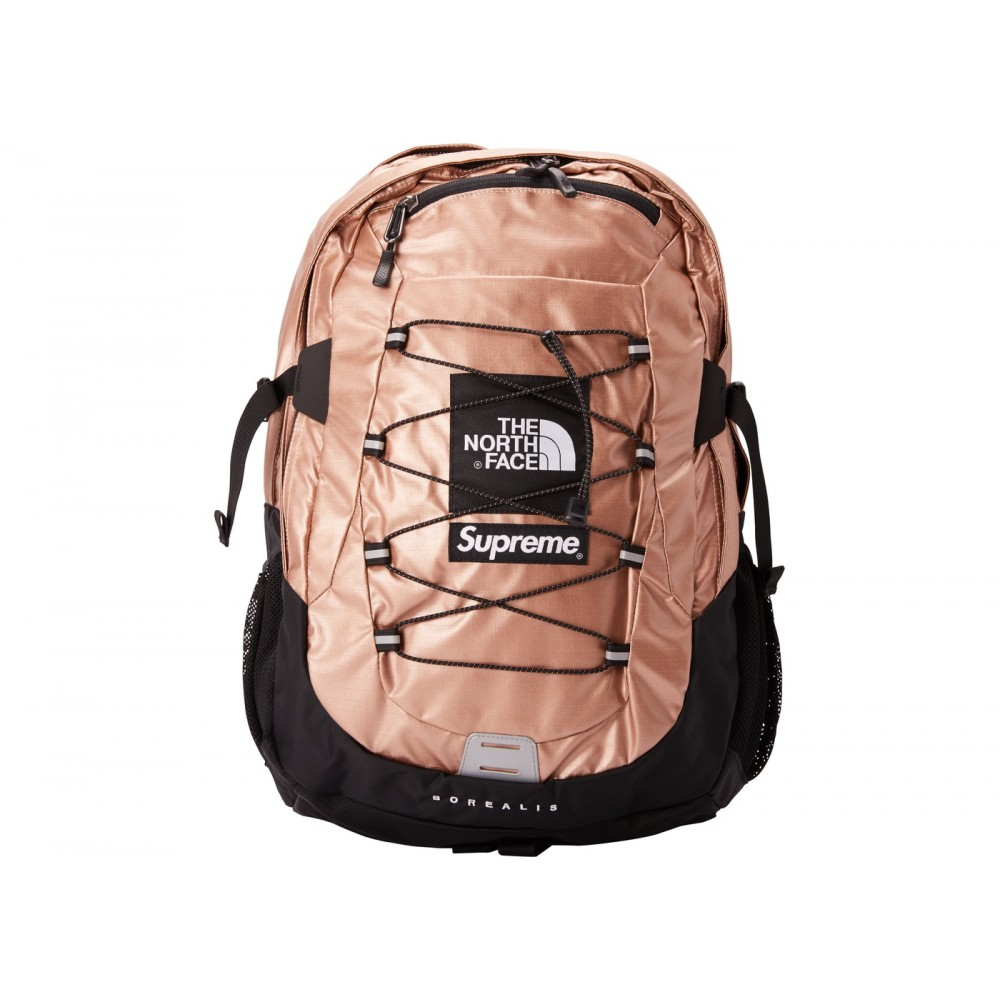 FW18 Supreme The North Face Metallic Borealis Backpack Rose Gold
