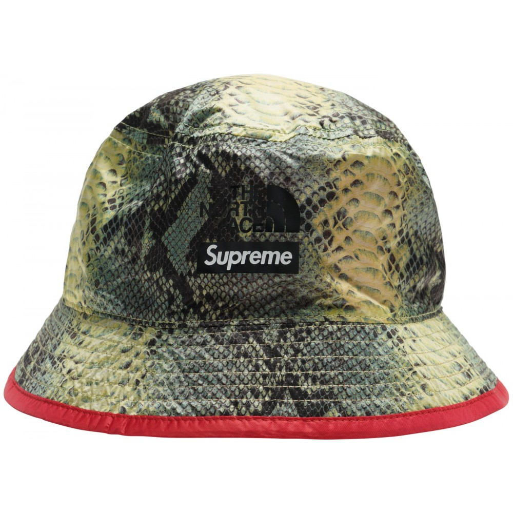 FW18 Supreme The North Face Snakeskin Packable Reversible Crusher Green