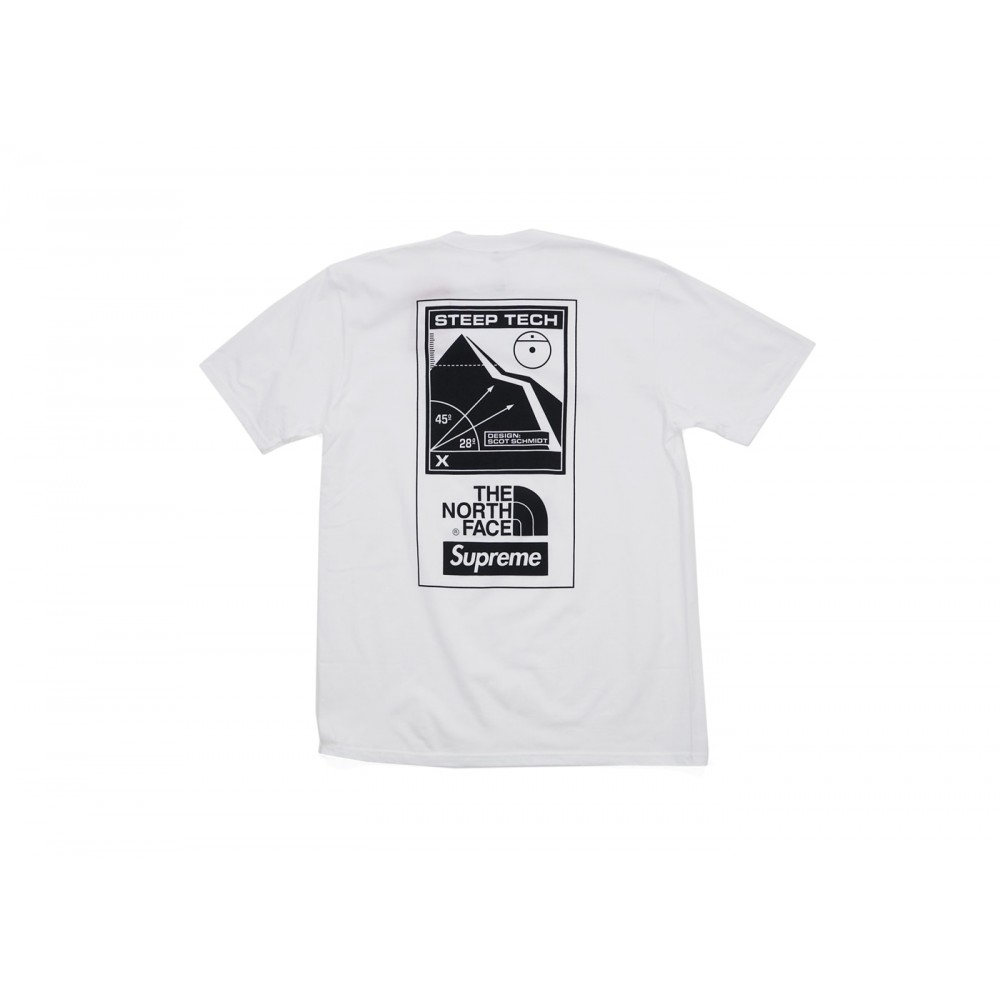FW18 Supreme The North Face Steep Tech Tee White