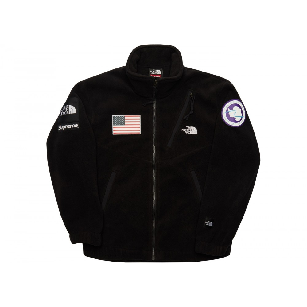FW18 Supreme The North Face Trans Antarctica Expedition Fleece Jacket Black