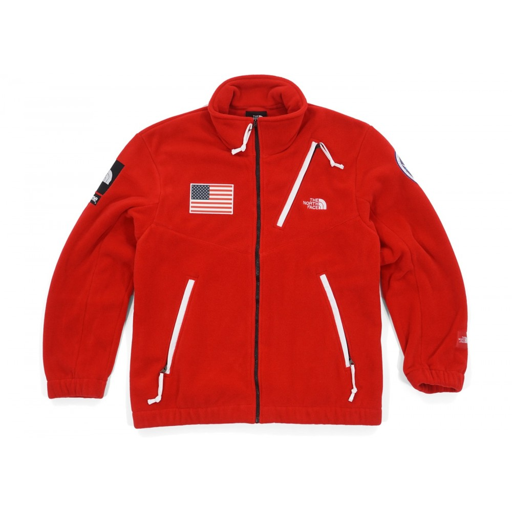 FW18 Supreme The North Face Trans Antarctica Expedition Fleece Jacket Red