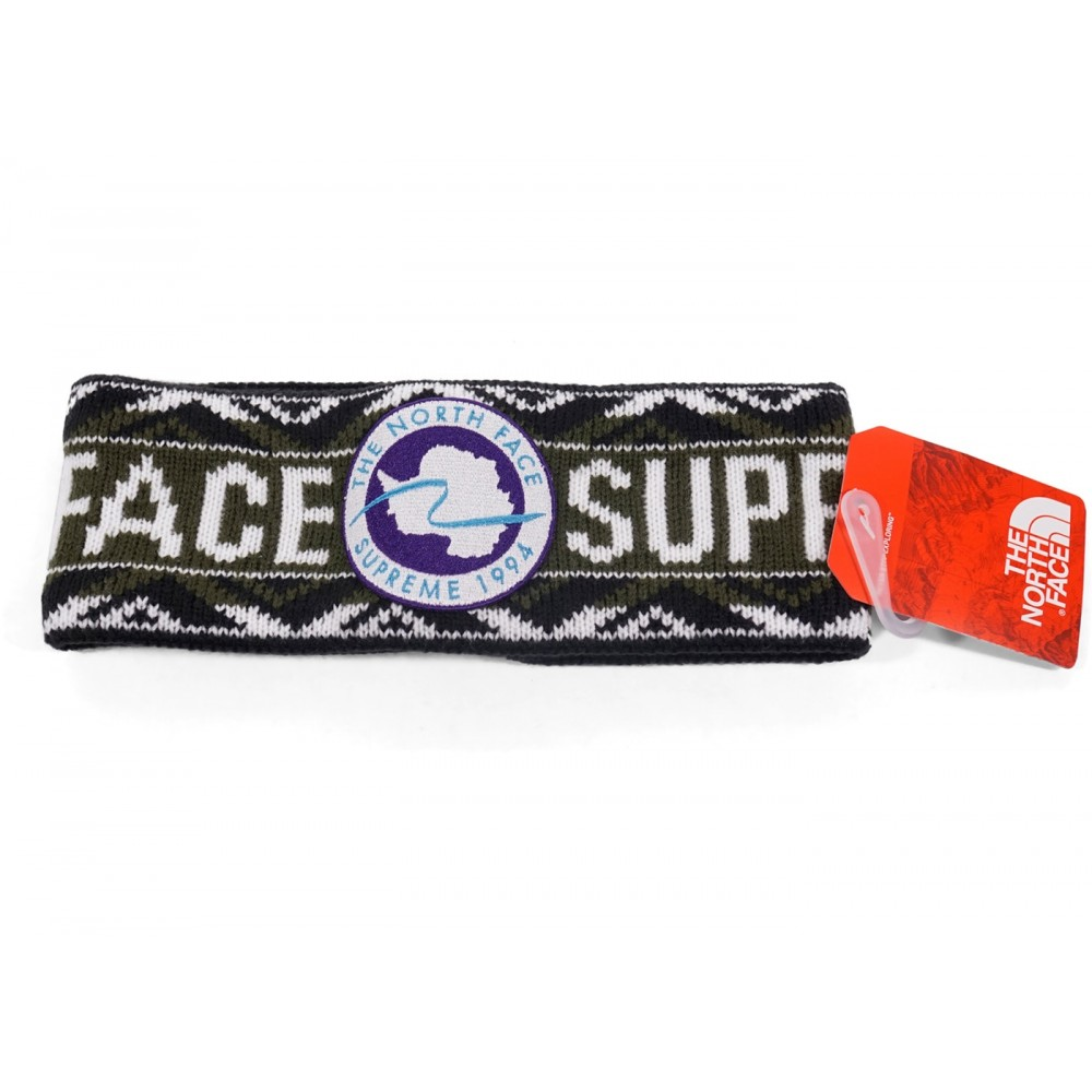 FW18 Supreme The North Face Trans Antarctica Expedition Headband Olive