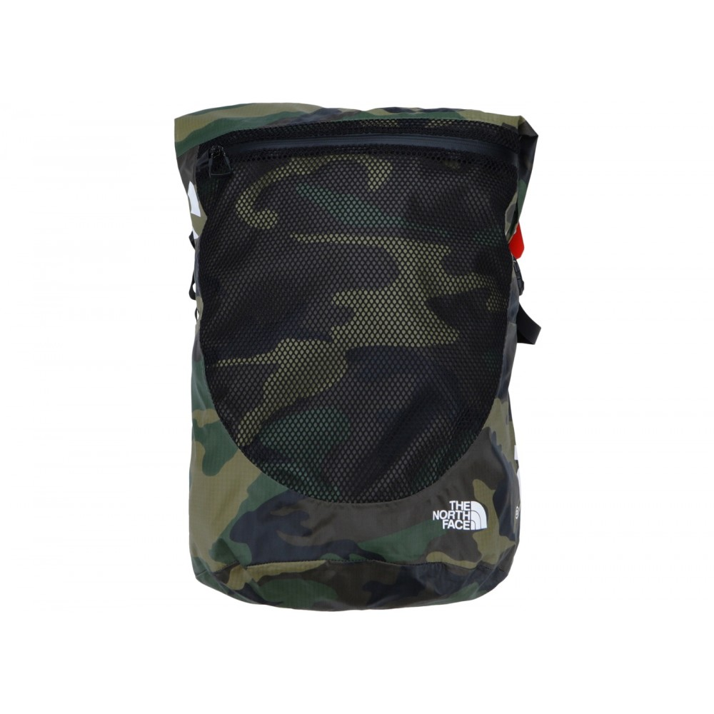 FW18 Supreme The North Face Waterproof Backpack Woodland Camo