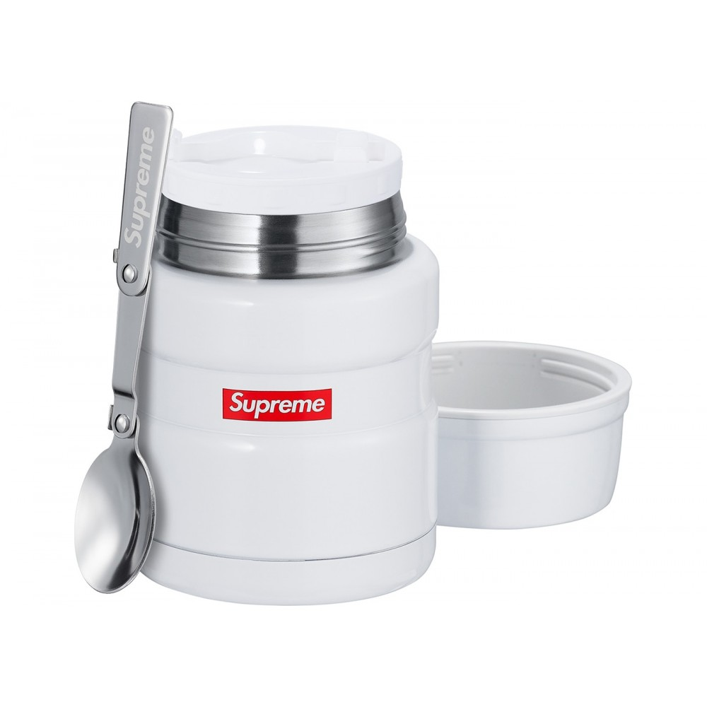 FW18 Supreme Thermos Stainless King Food Jar and Spoon White
