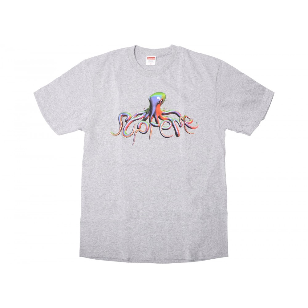 FW18 Supreme Tentacles Tee Heather Grey