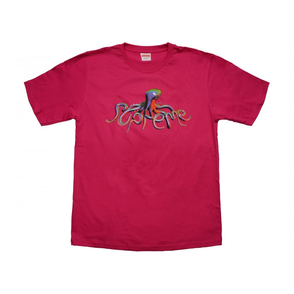 FW18 Supreme Tentacles Tee Hot Pink