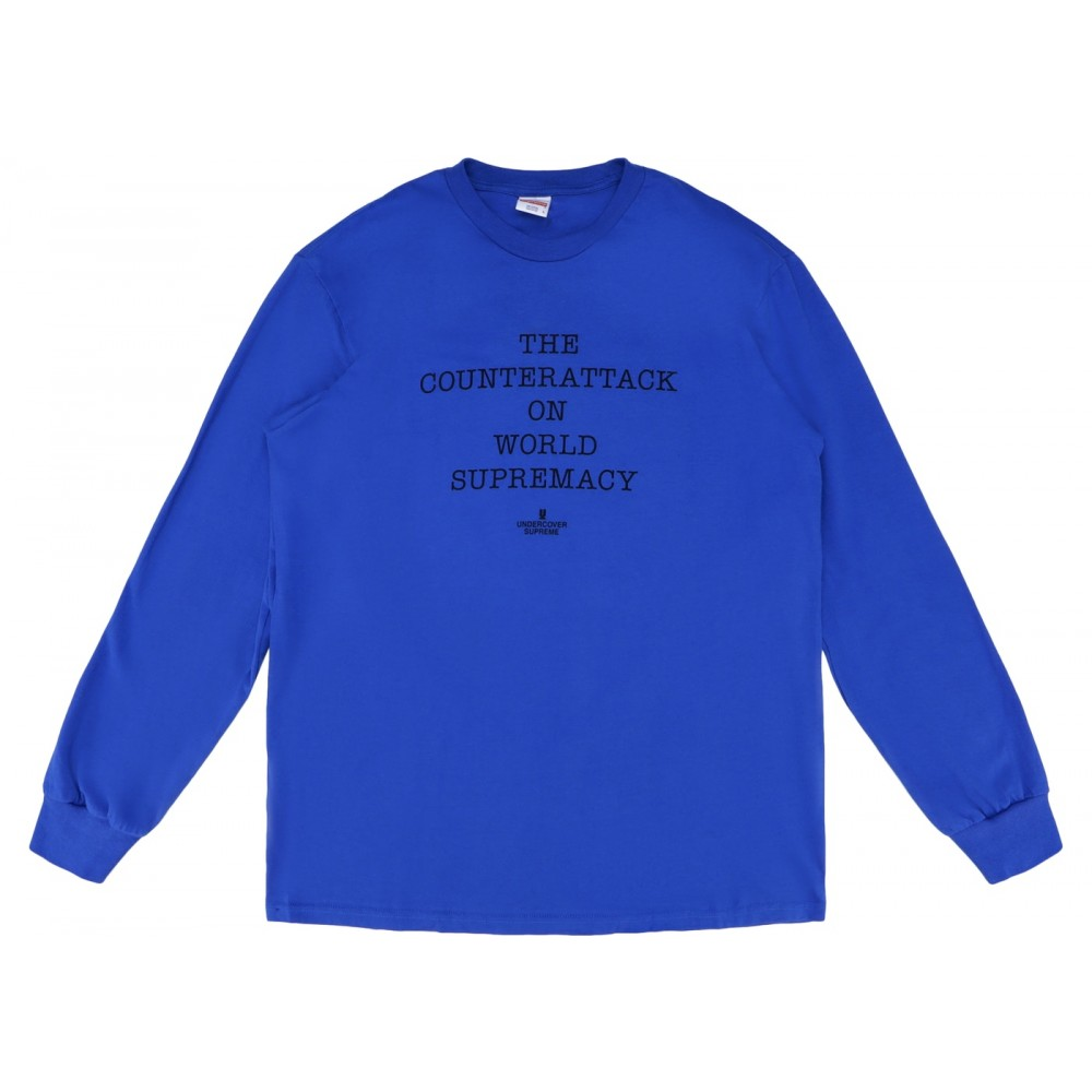 FW18 Supreme UNDERCOVER/Public Enemy Counterattack L/S Tee Royal