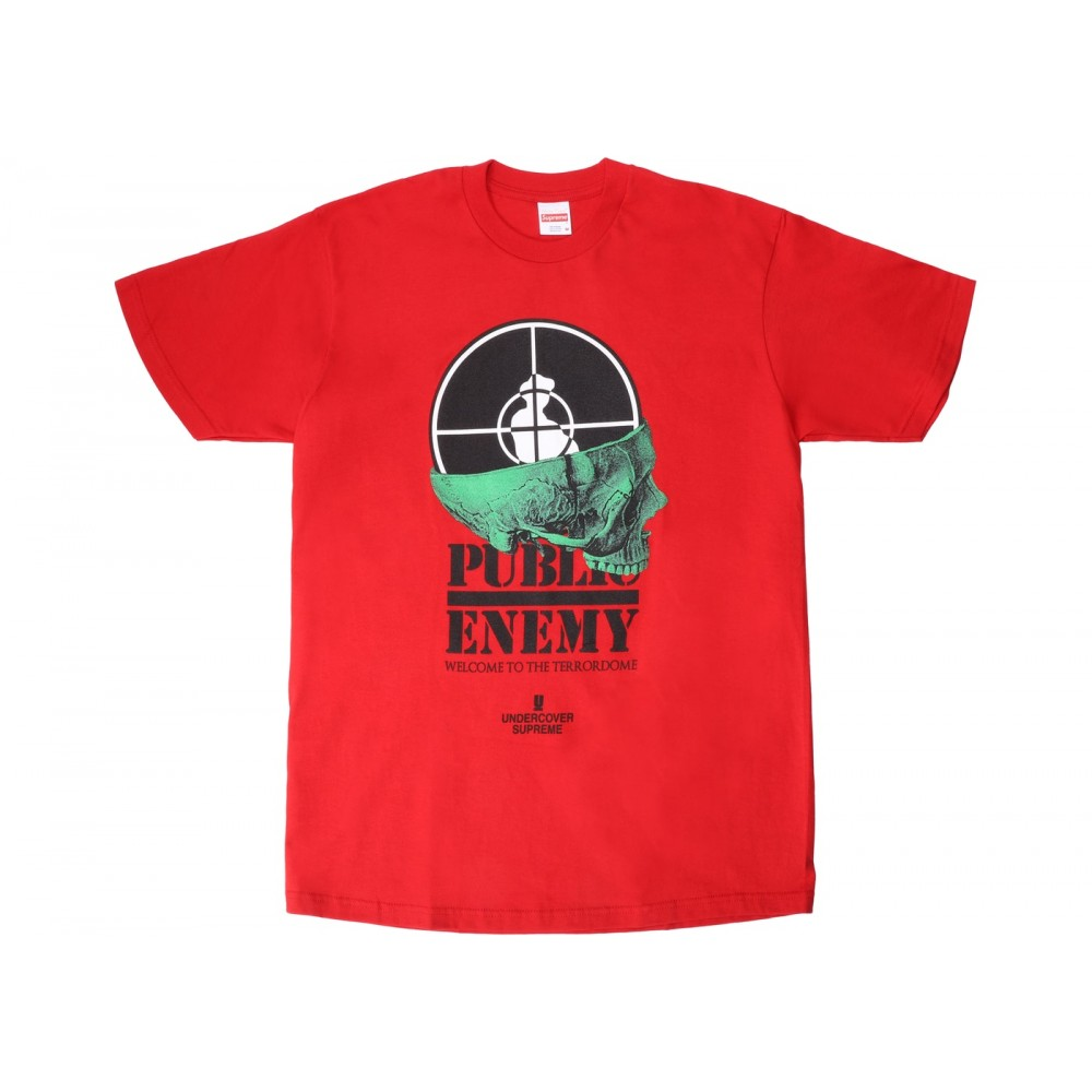 FW18 Supreme UNDERCOVER/Public Enemy Terrordome Tee Red
