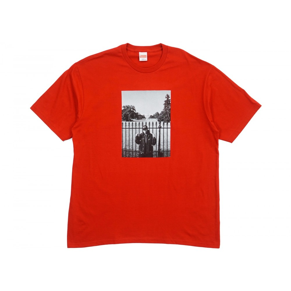 FW18 Supreme UNDERCOVER/Public Enemy White House Tee Red
