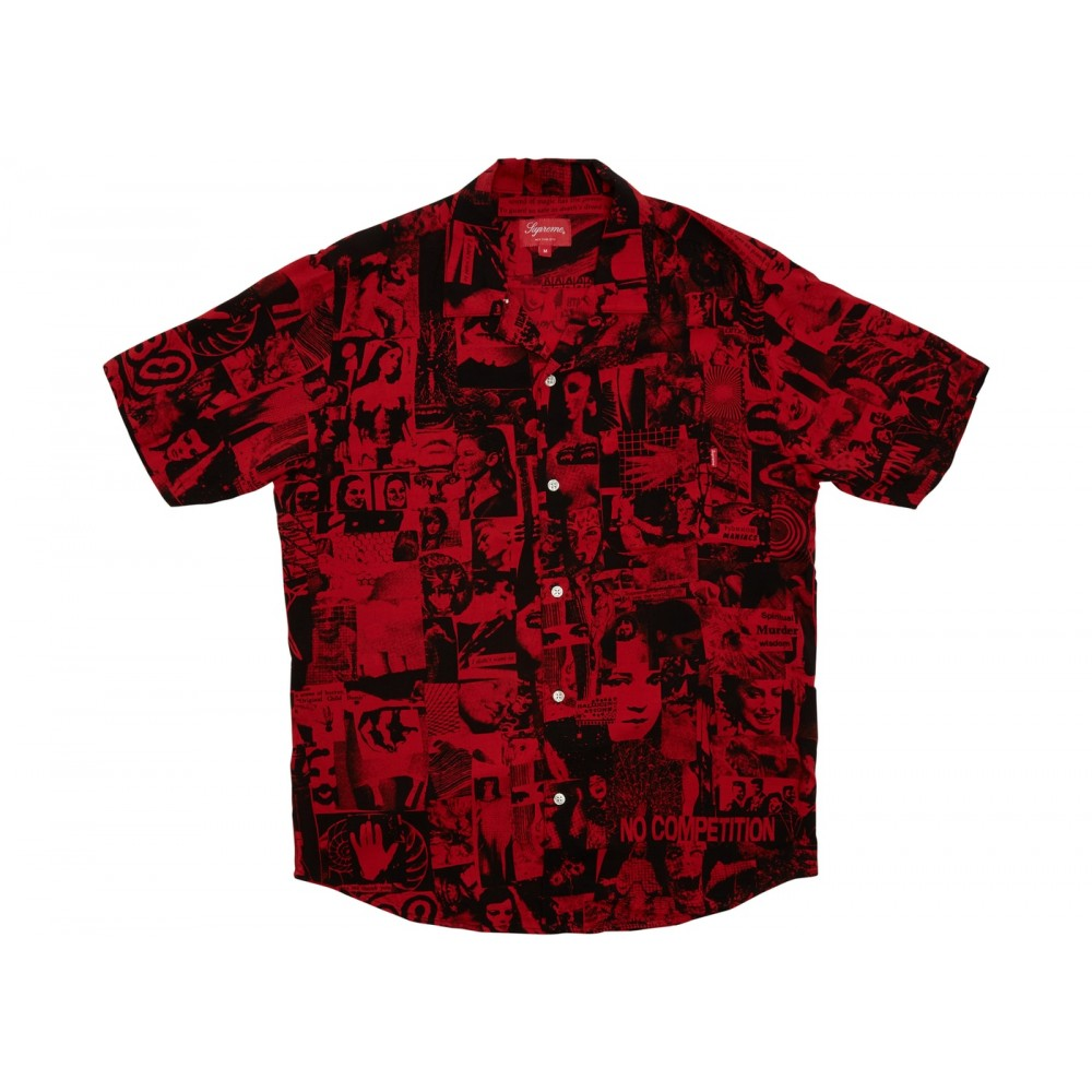 FW18 Supreme Vibrations Rayon Shirt Red