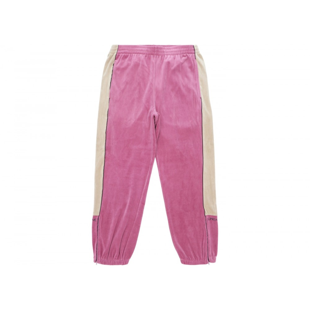 FW18 Supreme Velour Track Pant Pink
