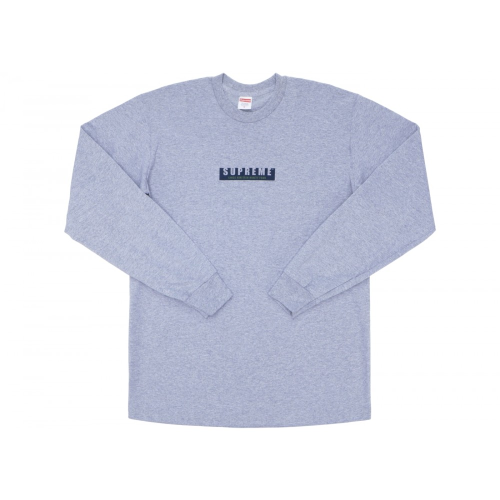 FW18 Supreme 1994 LS Tee Heather Grey