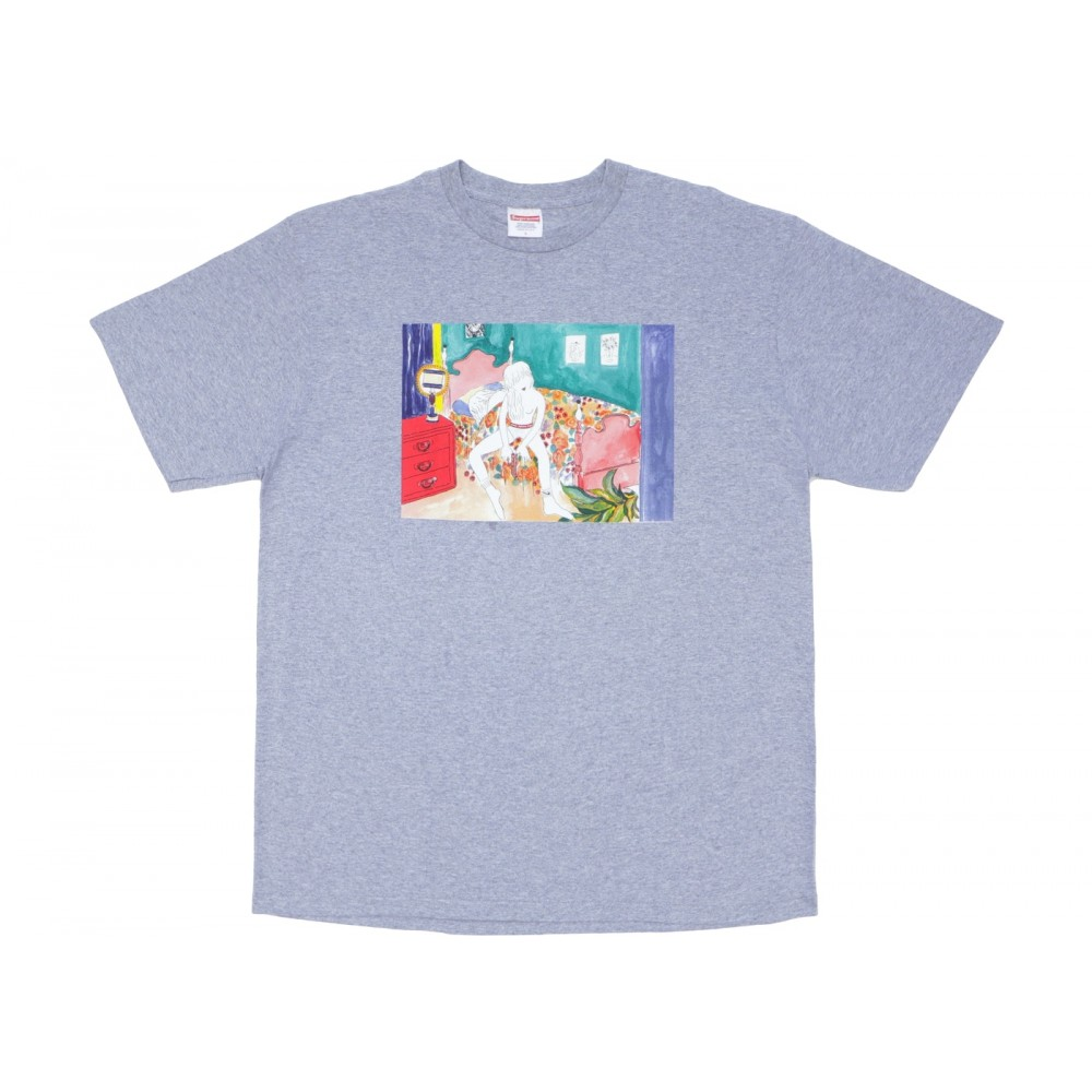 FW18 Supreme Bedroom Tee Heather Grey