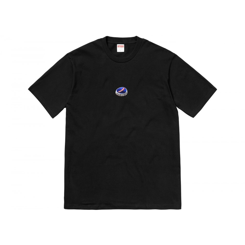 FW18 Supreme Bottle Cap Tee Black