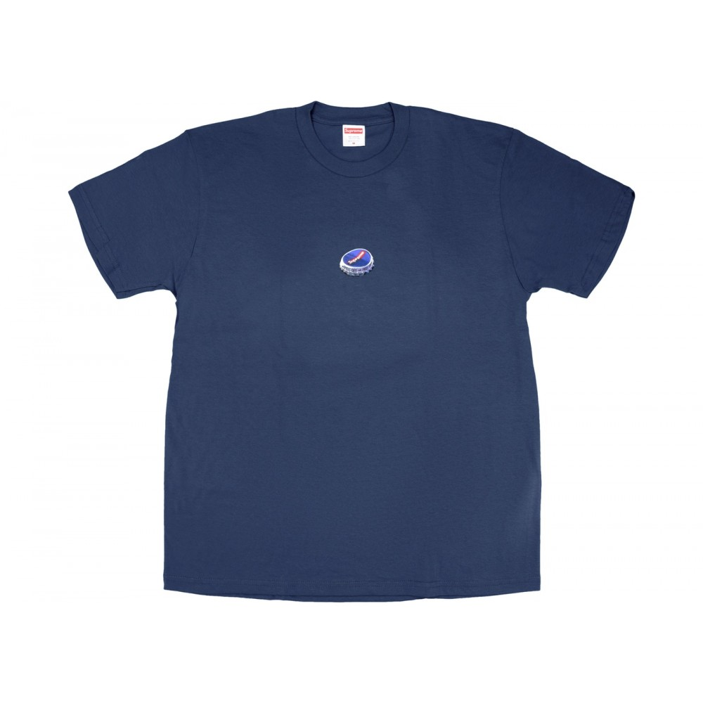 FW18 Supreme Bottle Cap Tee Navy