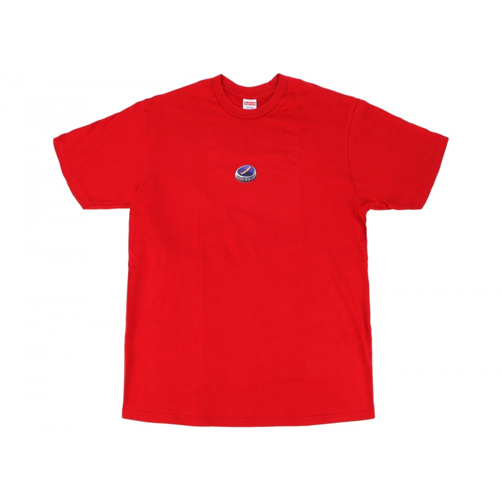 FW18 Supreme Bottle Cap Tee Red