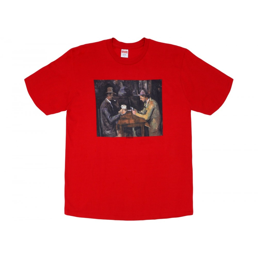 FW18 Supreme Cards Tee Red