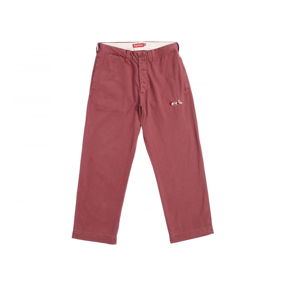 FW18 Supreme Cat in the Hat Chino Pant Burgundy
