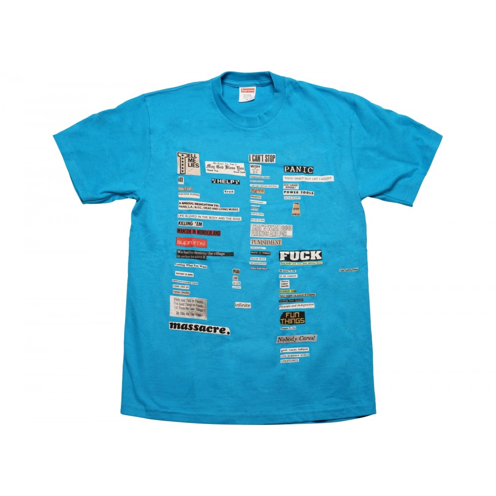 FW18 Supreme Cutouts Tee Bright Blue