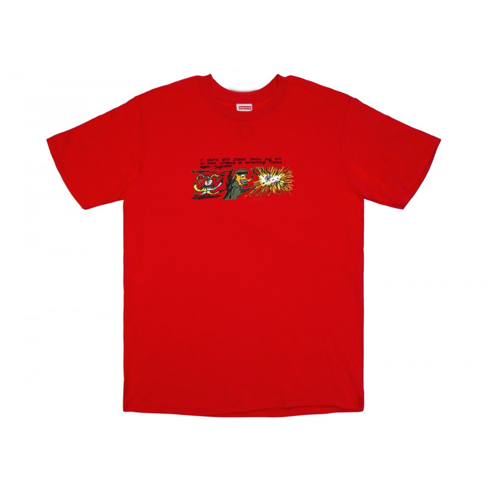 FW18 Supreme Dog Shit Tee Red
