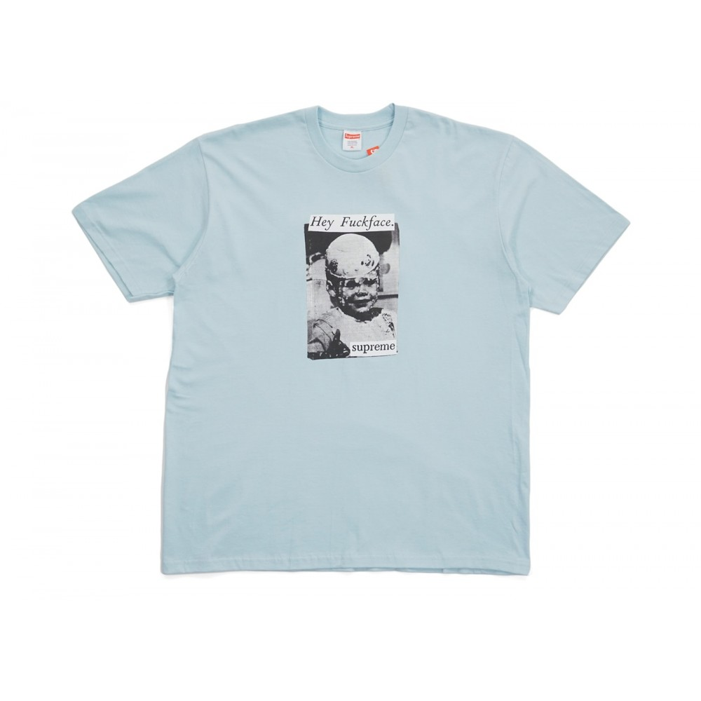 FW18 Supreme Fuck Face Tee Pale Blue