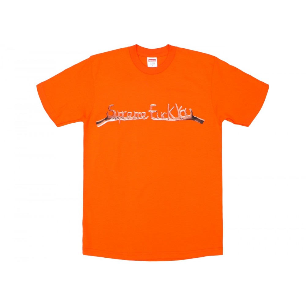 FW18 Supreme Fuck You Tee Orange