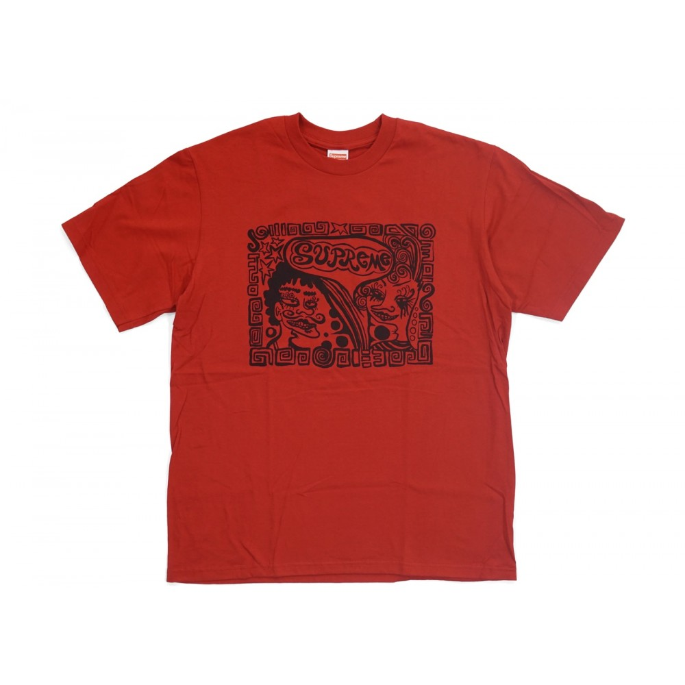 FW18 Supreme Faces Tee Red