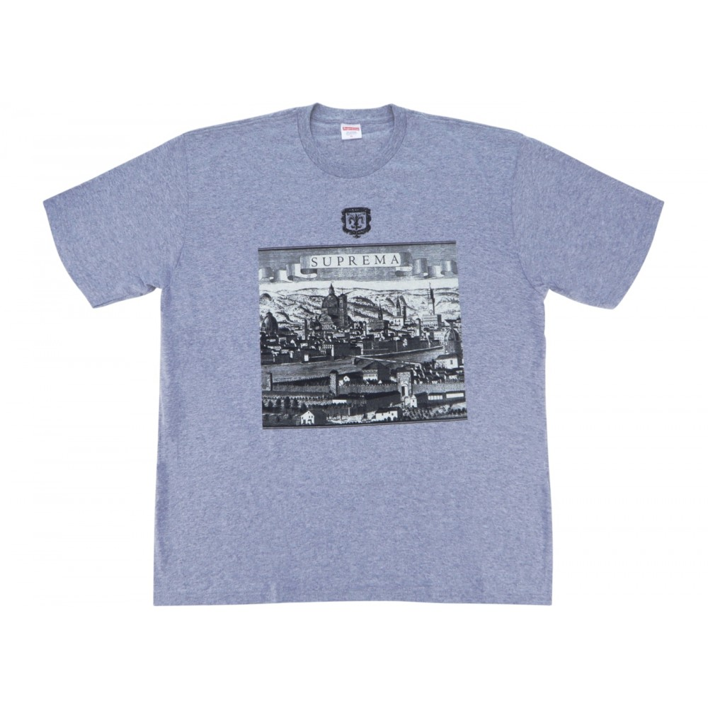 FW18 Supreme Fiorenza Tee Heather Grey