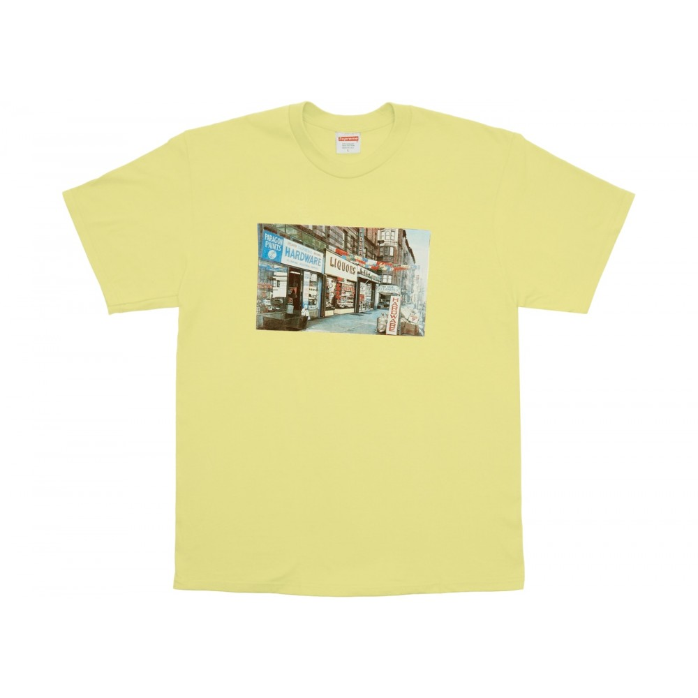 FW18 Supreme Hardware Tee Pale Yellow
