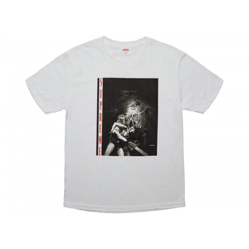 FW18 Supreme Horror Tee White