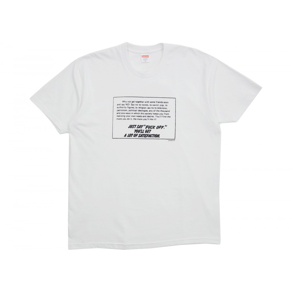 FW18 Supreme Just Say No Tee White
