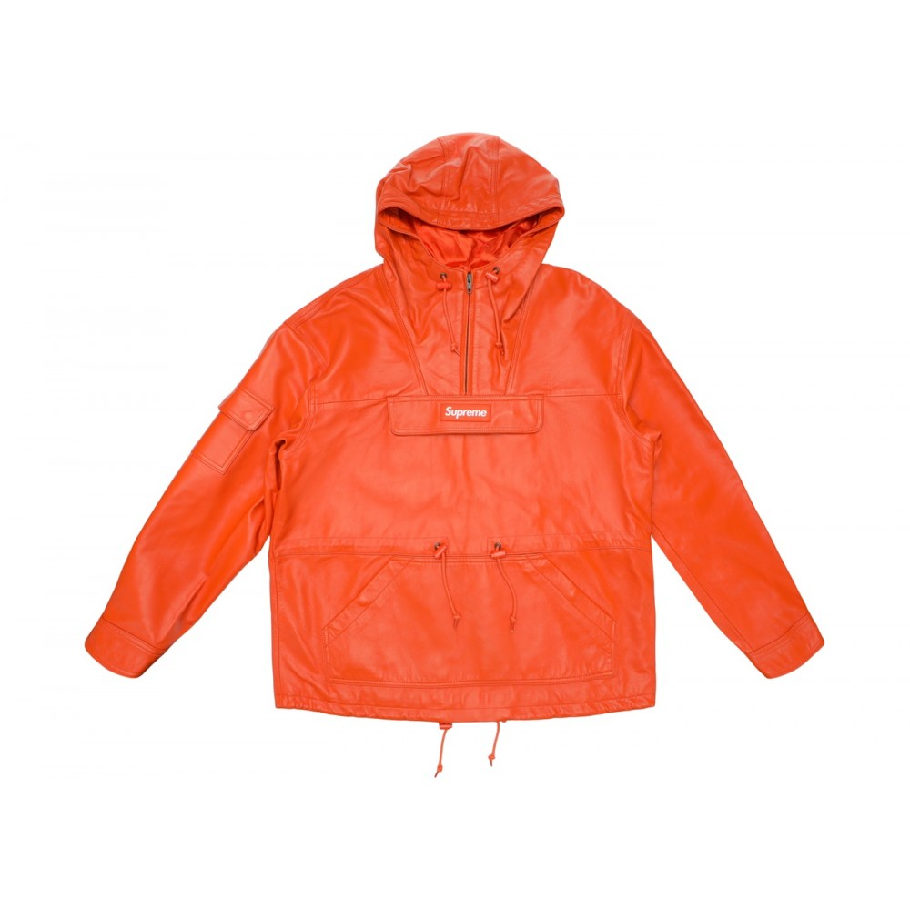 FW18 Supreme Leather Anorak Orange