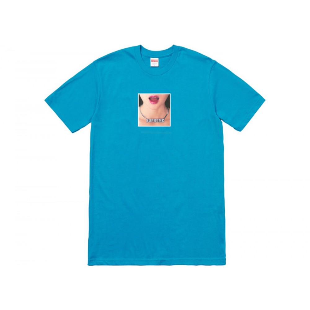 FW18 Supreme Necklace Tee Cyan