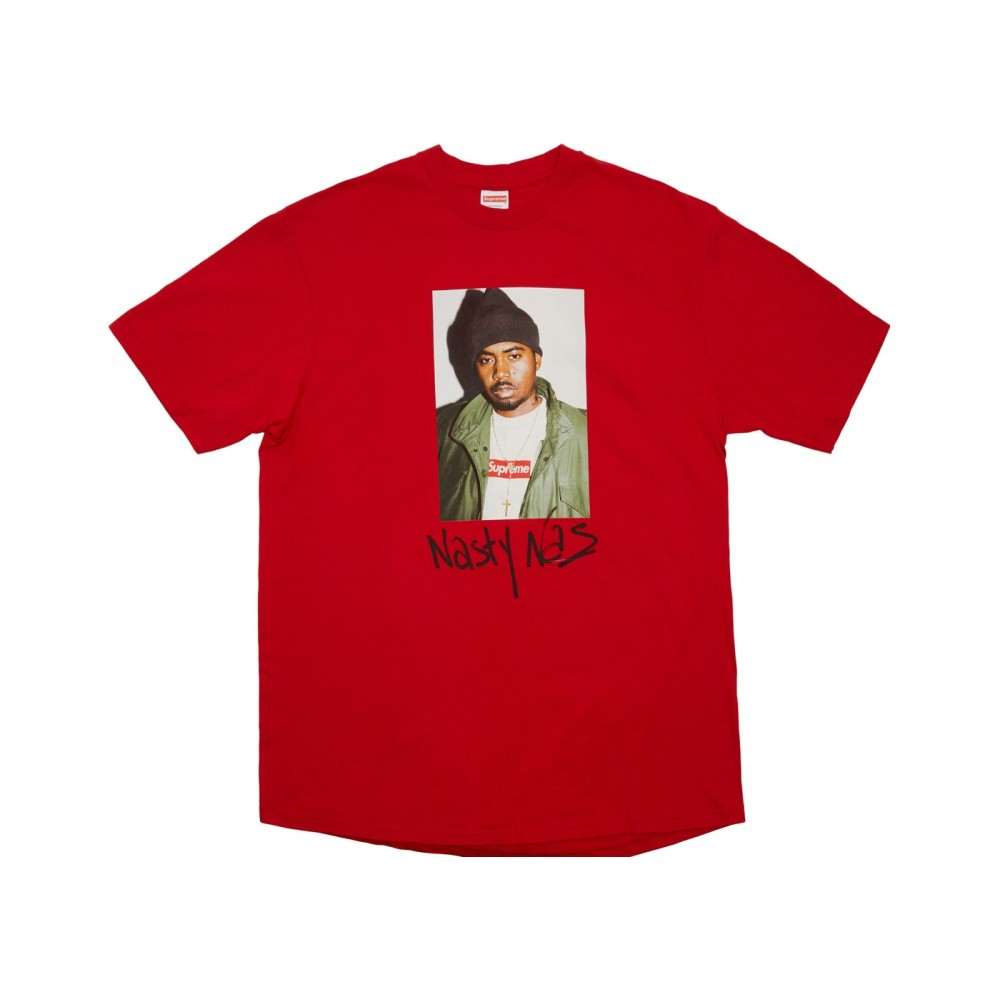 FW18 Supreme Nas Tee Red