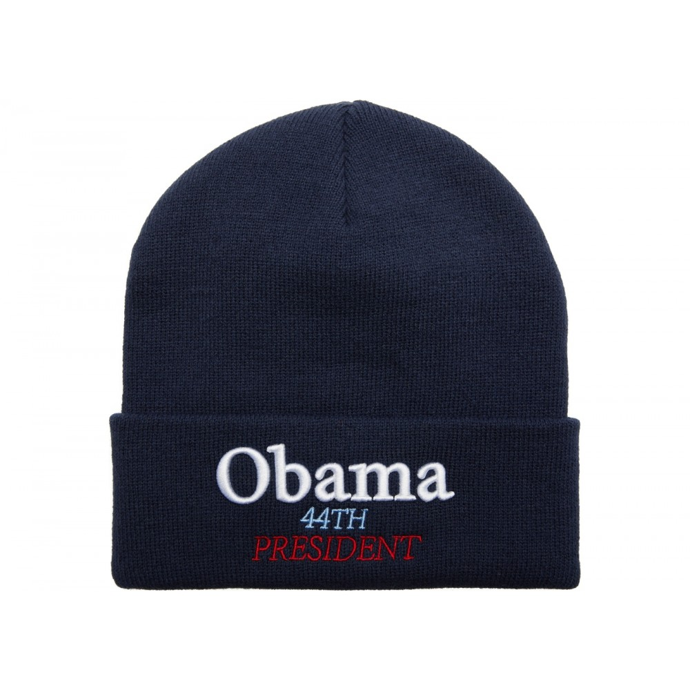 5f968cfd FW18 Supreme Obama Beanie Navy