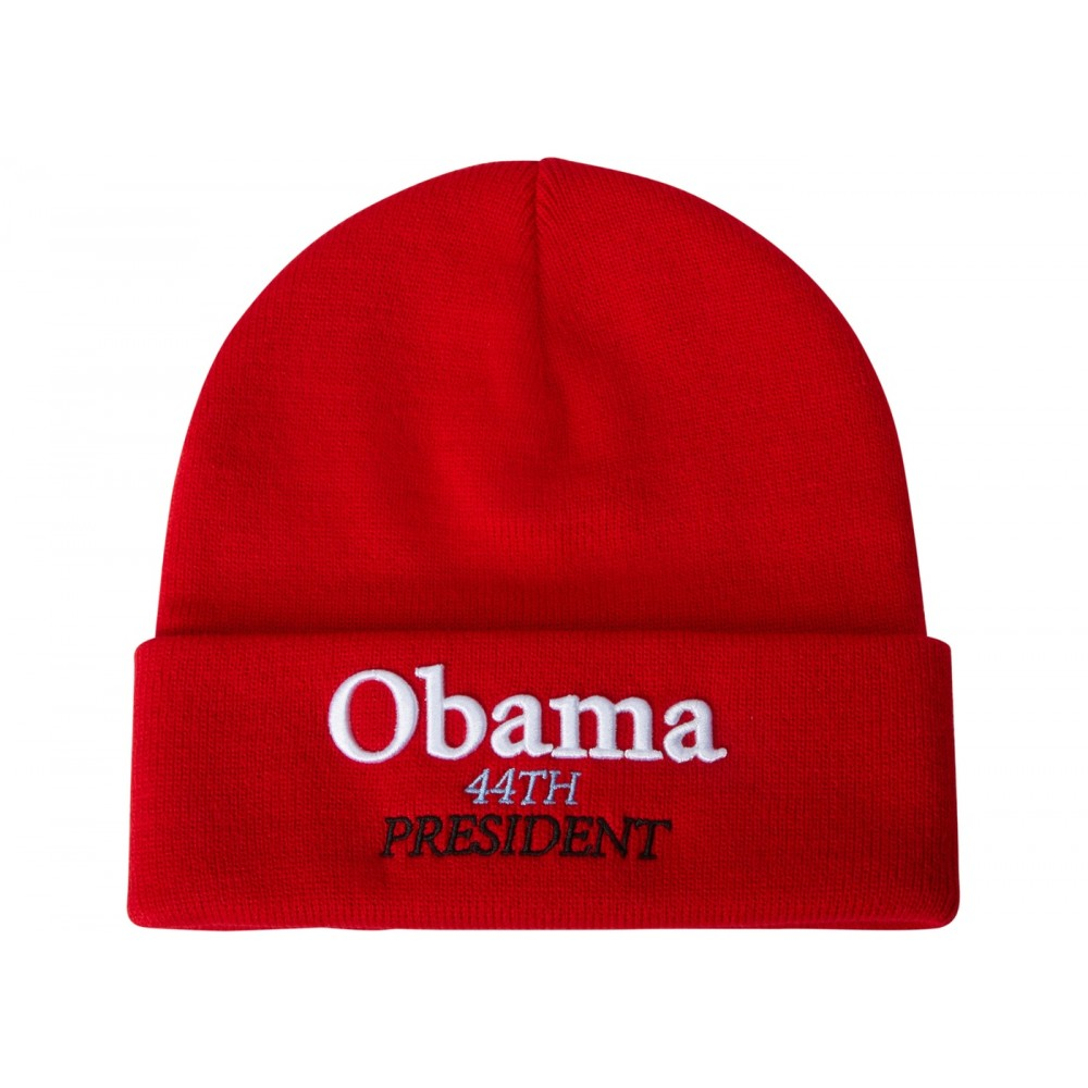 6d38a8509 FW18 Supreme Obama Beanie Red