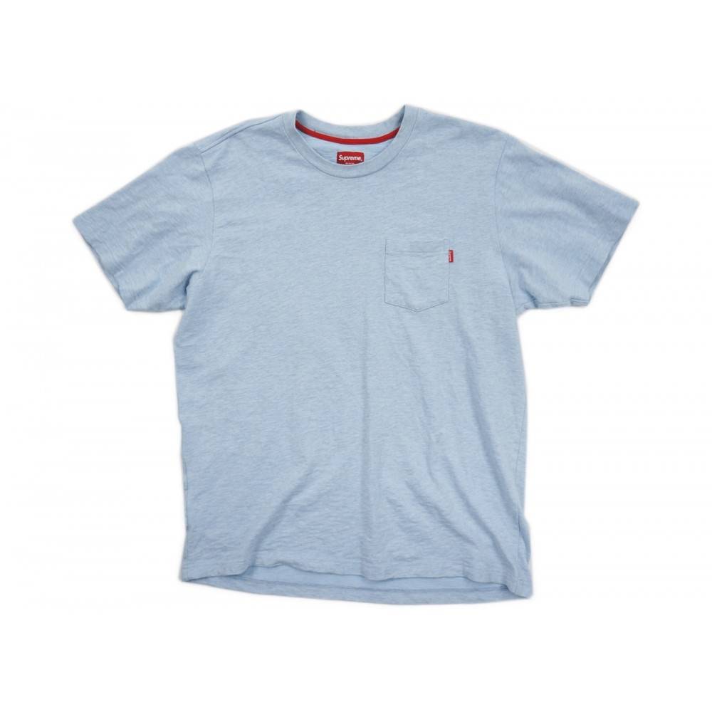 FW18 Supreme Pocket Tee Light Blue