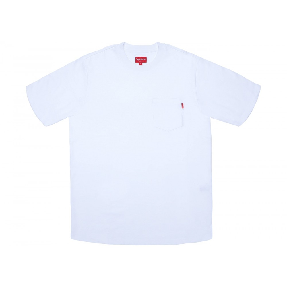FW18 Supreme Pocket Tee White