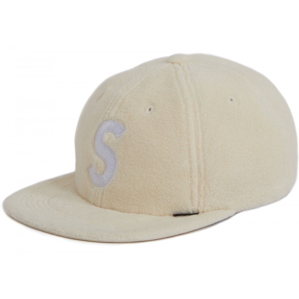 FW18 Supreme Polartec S Logo 6-Panel Natural