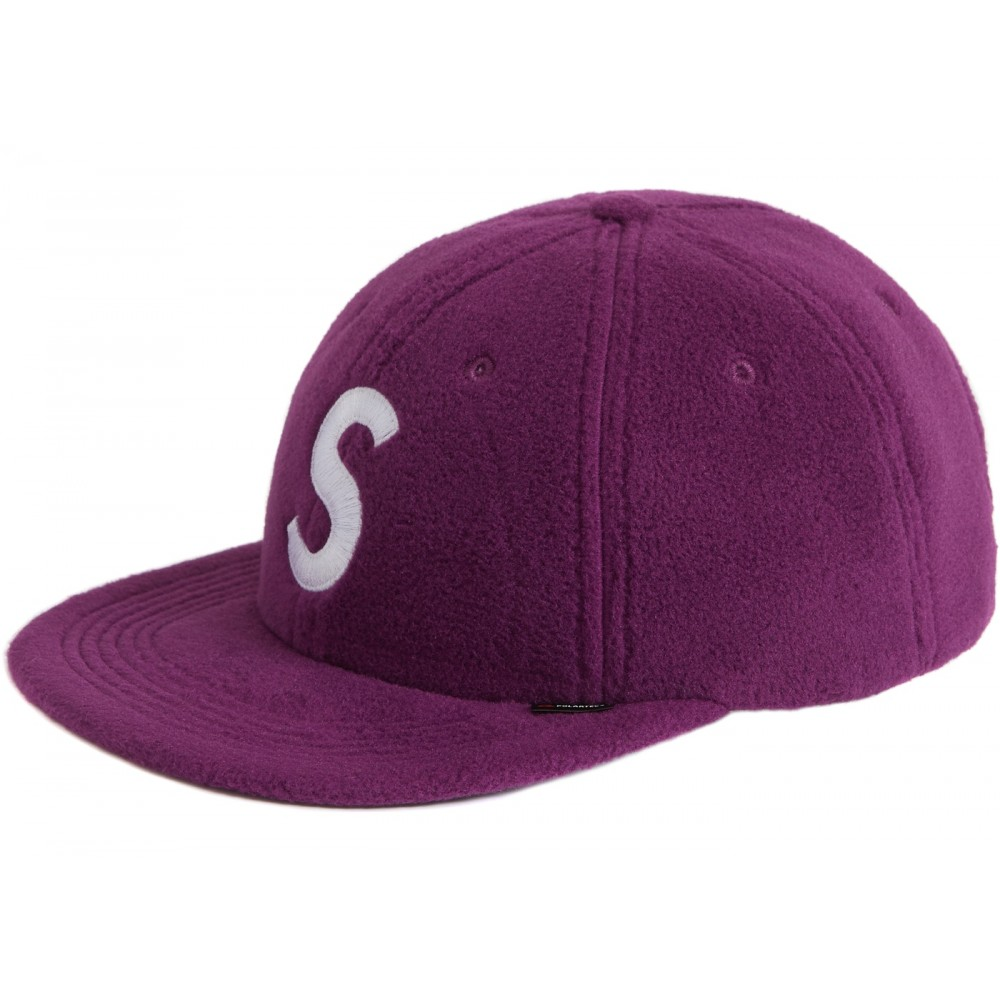 FW18 Supreme Polartec S Logo 6-Panel Purple