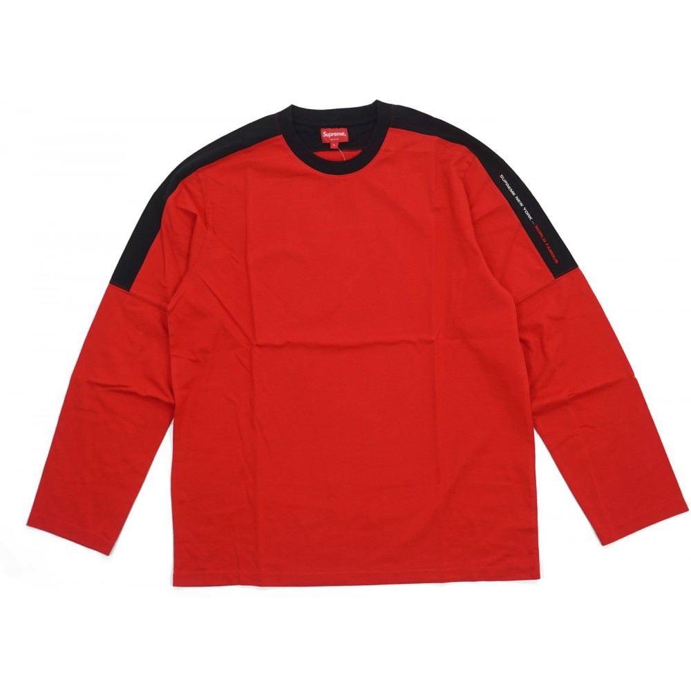 FW18 Supreme Paneled L/S Top Red