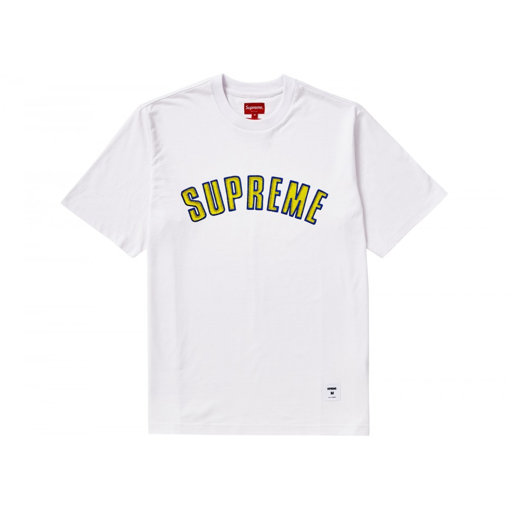 FW18 Supreme Printed Arc S/S Top White