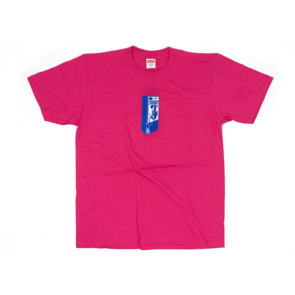 FW18 Supreme Payphone Tee Dark Pink