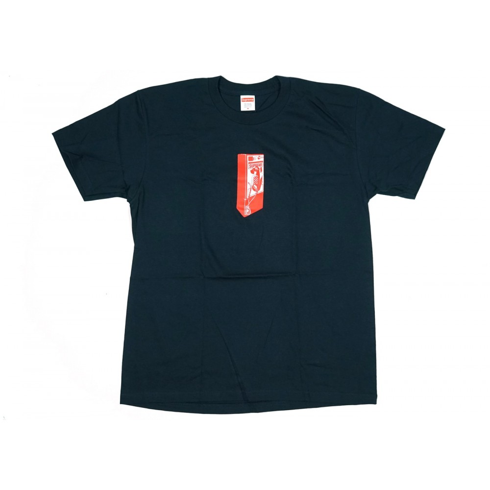 FW18 Supreme Payphone Tee Navy
