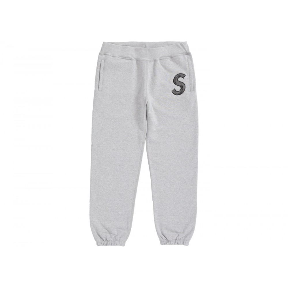 FW18 Supreme S Logo Sweatpant Heather Grey