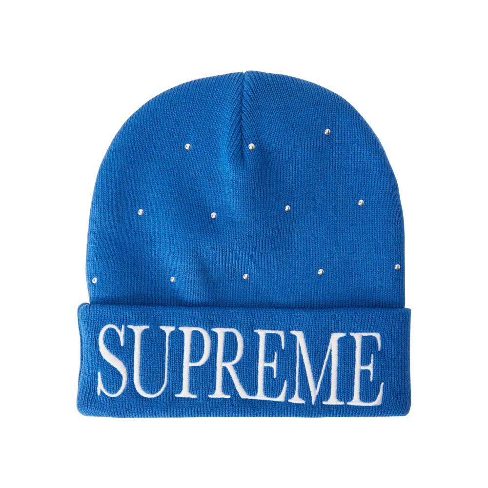 FW18 Supreme Studded Beanie Royal