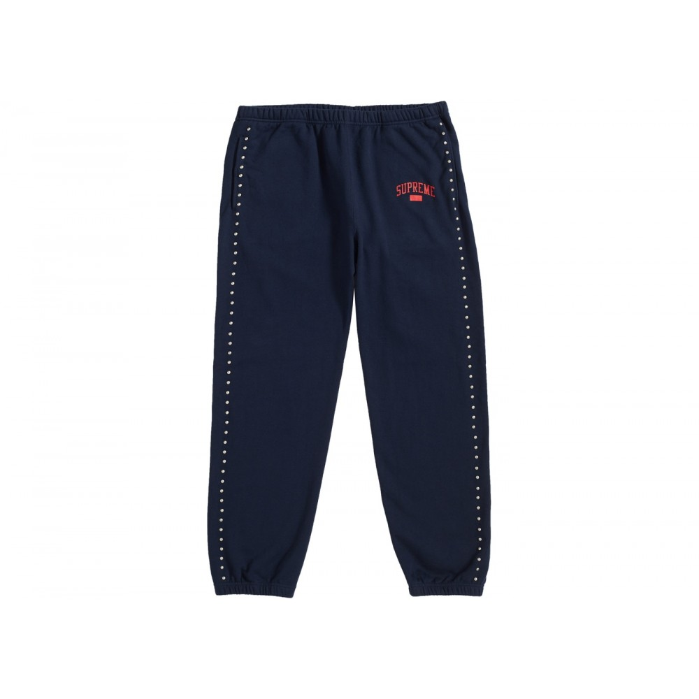 FW18 Supreme Studded Sweatpant Navy