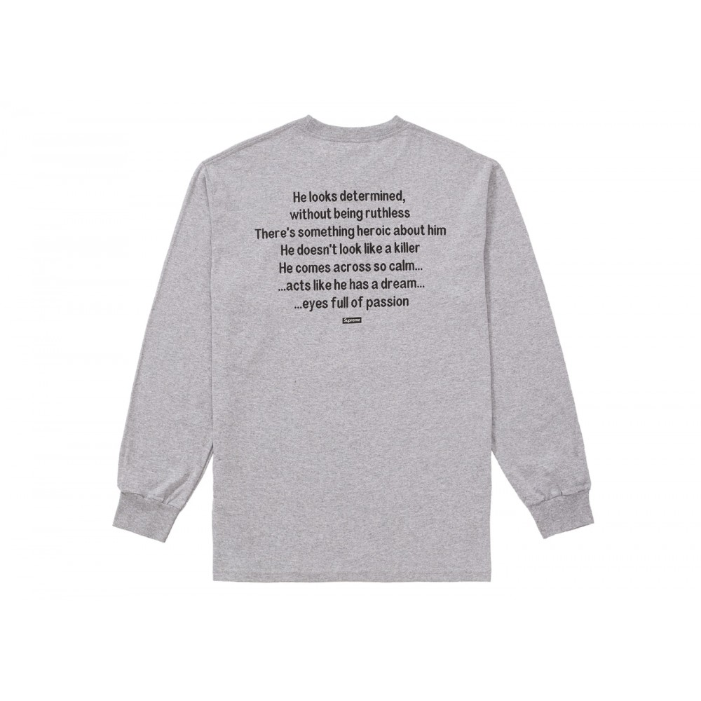 FW18 Supreme The Killer L/S Tee Heather Grey