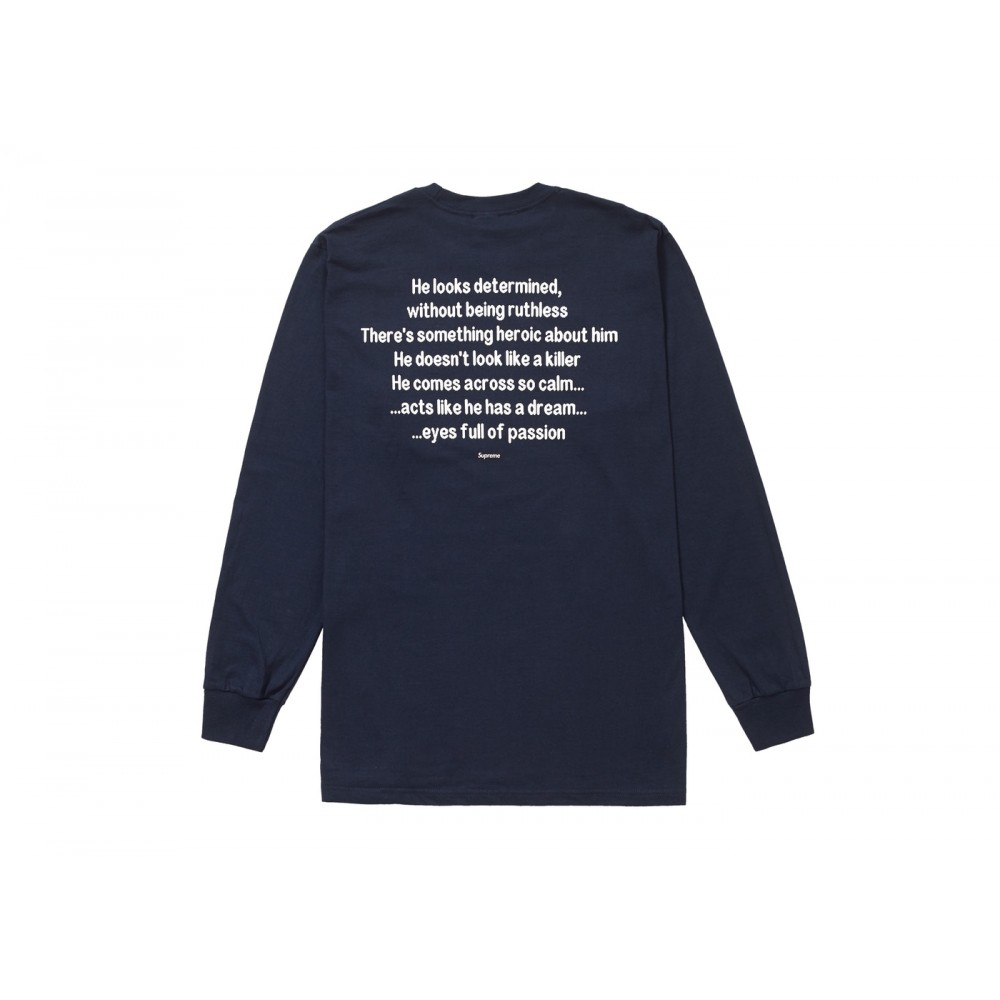 FW18 Supreme The Killer L/S Tee Navy