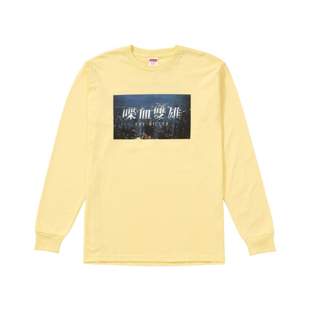 FW18 Supreme The Killer L/S Tee Pale Yellow